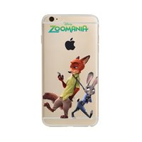 Wholesale Tpu Animals - Crazy Animal City Phone Case For Iphone6 6s 6splus 5 5s 5se 7 7plus Case Rabbit Soft Painting TPU Capa Back Cover
