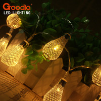Grossiste-3.5M Gouttes de pluie Design LED String Light Home Décoratifs Garland Wedding Garment Lampes / lampes / chandelier baterry aa Fairy lampe