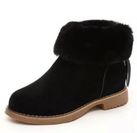 Wholesale Winter Women Boots Warm Flock Shoes Woman Platform Ankle Snow Boots Casual Slip On Flats Women Shoes