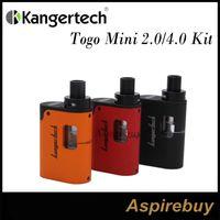 Wholesale Flow Mini - Kanger Togo Mini Kit 2.0 4.0 2ml 4ml Capacity 1600mah Battery Symmetrical Air Flow Slim AIO Design Leak Resistant Top Fill Cup 100% Original