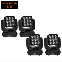 Wholesale Led Lighting Matrix - 4Pcs Lot Led Matrix Moving Head Lights With 9*10W 4in1 Cree Led RGBW Color Mixing DMX 512 Controller Hot Sell Led Moving Beam