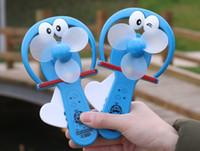 Wholesale Small Cartoon Fans - Mini hand pressure fan for children small Cartoon hello kitty fans Creative portable fan free shipping
