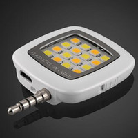 Wholesale New Phone 16 - Fashion new Portable Mini 16 LED Spotlight Camera Flash Fill-in Light For iPhone Samsung smart phones with retail box free shipping cheap