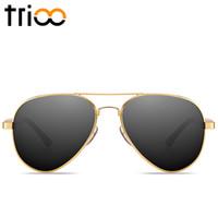 Wholesale Magnesium Aluminium Sunglasses - Wholesale- TRIOO Men Polarized Sunglasses Driving Anti-Glare Shades Aluminium Magnesium Material Sun Glasses For Men Pilot Shades Male 2017