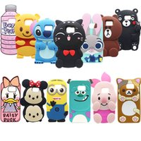 Wholesale Cute S4 Wallet Case - Soft Silicone Rubber phone Case For iPhone 7 5S 6 6s plus Samsung Note7 S4 S5 S6 S7 New 3D Cute Cartoon Cases