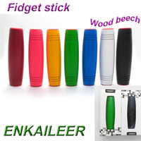 Wholesale Top Gifts For Christmas Kids - TOP quality Fidget Rollver fidget toys Novelty Decompression Wood Beech 9.2*2.6*2.6cm Christmas gift toy for men women DHL free shipping