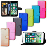 Wholesale Wholesale Photo Frame Stand Backs - Flip Stand Wallet Leather Case With Photo Frame Phone stand back Cover case for iphone 7 iphone7 plus