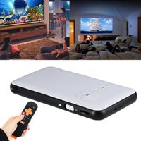 Android 4.4 Mini WiFi Bluetooth DLP Home Theater Proyector + Smart TV Box 16G O7Y0 Inicio Multimedia Cinema Proyector LED