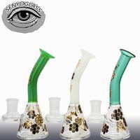 Wholesale Unique Glass Vases - 2017 Lovely glass bongs Vase Perc Unique bong recycler glass oil rigs water pipe bongs 14mm joint beaker bongs