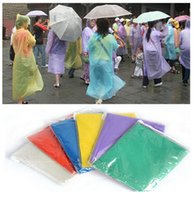 Wholesale Raincoats For Adults - One-time Raincoat Fashion Hot Disposable PE Raincoats Poncho Rainwear Travel Rain Coat Rain Wear for traveling home shopping