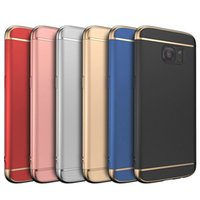 Wholesale Metal Cell Phone Covers - 3 in1 Design 360 Full cover Phone case For Samsung Galaxy S8 S8 Plus J5 J7 2016 A3 A5 A7 2017 J5 J7 Prime Cell Phone Cases