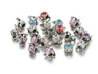Wholesale silver carriage - Wholesale 50pcs Princess Carriage Enamel Charms Bead Silver Charms Pendant Big Hole Beads Fit European Charm Pandora Bracelet Jewelry DIY