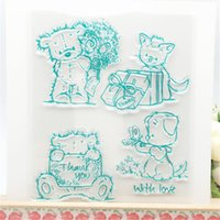 Wholesale Cartoon Photo Album - Wholesale- Lively Cute Cartoon Bear Transparent Clear Stamp DIY Silicone Seals Scrapbooking Card Making Photo Album Decoration Supplies