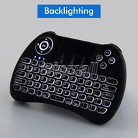 Wholesale mouse media desktop for sale - Group buy 2 G Wireless Backlit Keyboard H9 Fly Air Mouse PC Multi Media Remote Control Handheld Touchpad Keyboard For MXQ K TV Box T95 S905X
