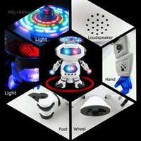 Entertainment space robots - Intelligent Robot Rotating Space Dancing Robot Musical Walk Lighten Electronic Robot Multicolor Christmas Birthday Gift Toys