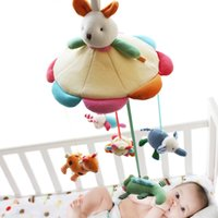 Wholesale Toy Bunny Sale - Wholesale- SHILOH Hot Sale Mamas&Papas Cot Hanging Toy Baby Rattle Toy Soft Plush Rabbit Musical Mobile Products 60 Songs Bunny Doll