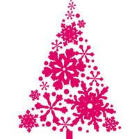 Wholesale snowflake wall art - 2017 Home Decoration Merry Christmas Vinyl Wall Sticker Art Design Christmas Tree With Snowflakes Vinyl Special Wal Decals D-137