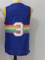 Wholesale Rainbow Stock - 2017 Men's Basketball Jerseys #3 Fashion Blue rainbow Jersey Men Sport Jersey in stock