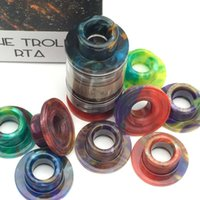 O Troll RTA Drip Tips Epoxy Resin E cig Wide Bore Mouthpiece Cover For Wotofo TROLL RTA Atomizer Driptip colorido com caixa de varejo
