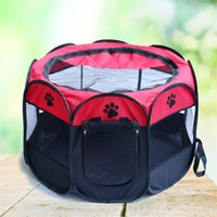 Wholesale Dog Puppy Playpen - Portable Nylon Oxford Pet Folding Cage Puppy Sleeping Tent Comfortable and Durable Dog Playpen Pet Fence Kennel