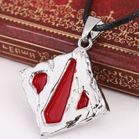 MS JEWELS Hot GAME DOTA 2 Logo Metal Charm Necklace Colgante Cosplay Jewelry Gift Accessories