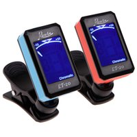 Wholesale Black Electric Violins - Universal Portable LCD Display Clip-On Electric Tuner for Guitar Chromatic Bass Violin Ukulele Guitar Tuner High Quality 2016