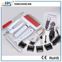 Wholesale Stainless Steel Professional Hair Comb - Dog Grooming Clippers Kit Professional Pet Electric Hair Clippers Trimmer with Comb for Dogs Cats with Wholesale Prie