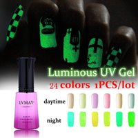 Wholesale Uv Glow Nail Polish - Wholesale- Long Lasting for 30 days Fluorescent Neon Luminous UV gel nail polish for Glow in Dark Varnish glue esmalte sioux Enamel