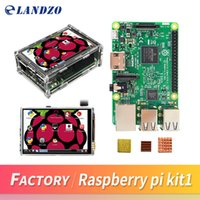 Wholesale Raspberry Pi Model - Raspberry Pi 3 Model B Board + 3.5 TFT Raspberry Pi3 LCD Touch Screen Display + Acrylic Case + Heat sinks For Raspbery Pi 3 Kit