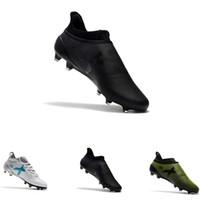 zapatos de fútbol para niños al aire libre al por mayor-Ace 17+ Purecontrol X Purechaos FG zapatos de fútbol al aire libre para hombres verde blanco azul fútbol fútbol talla 39-45