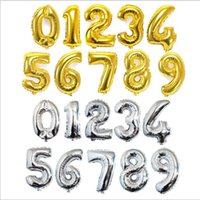 Wholesale Christmas Foil Balloons - 40inch 0-9 Number balloons Toys for Wedding Birthday Christmas Party Decoration Fashion Hot Foil Balloon 50Pcs=1Number=1Bag