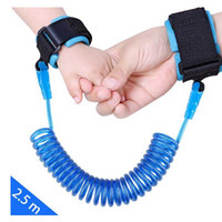 Wholesale Travel Baby Strap - Baby Carrier Anti Lost Wrist Link With Extra Long Safety Strap 2.5M Skin Care for Babies Travel Outdoor Shopping Blue+Orange