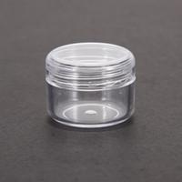 yüz krem kapları toptan satış-Küçük Boş Temizle Kavanoz Pot Mini Kozmetik Boş Kavanoz Pot Göz Farı Makyaj Yüz Kremi Konteyner
