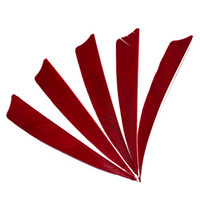 Wholesale Feather Arrow Fletching - 30pcs 4'' Left Wing Feathers for Glass Fiber Bamboo Wood Archery Arrows Hunting and Shooting Shield Red Fletching