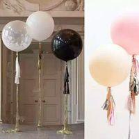 "Wholesale Helium Balloons Big - 2pcs 36""Inch 90 CM Giant Big Latex Ballon Birthday Wedding Party Helium Decoration Pretty Giant Hot"