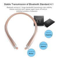 Wholesale Good Wireless Headsets - Good Quality Bluetooth Wireless Headphones With Hard Retail Package CSR 4.1 Neckband Sports HBS 1100 Earphones Headsets with Mic