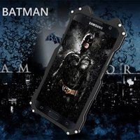 Wholesale Metal Case For Galaxy - R-JUST case for Samsung galaxy S6 S7 edge Note5 metal aluminum Shockproof Cover case Armor anti-knock phone cases