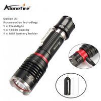 Wholesale Penlight Torch - AloneFire X960 Powerful LED flashlight Rechargeable USB Flashlight 18650 Cree L2 2000Lumens LED Torch Penlight indicator Light
