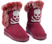 Wholesale Womens Warm High Heel Boot - Hot boots MNS boots Classica style high Rabbit Fur Boots Womens snow boots Winter Fashion style Warm stable With box certificate glitter2009
