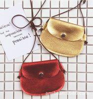 Wholesale Small Kids Purse Wholesale - 2017 INS Children Crossbody Bag for Girls Cool Gold Golden Bronzing Kids Fringe Bag Bow Messenger Bags Handmade Small Bag Coin Purse glitter
