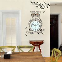 owl houses - Cute Owl Wall Clock Modern Contemporary Wall Clocks Houses Wall Clock Owl with Moving Eyes Large Clock