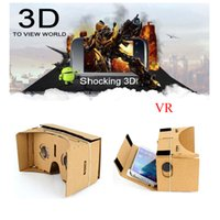 "Wholesale Virtual Movies - DIY Google Cardboard VR Box Virtual Reality 3D Glasses Game Movie VR Glasses for 6.0"" Screen Android Mobile Phone Cinema"