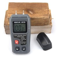 Wholesale Wholesale Timber Wood - Freeshipping 5PCS   Lot EMT01 0-99.9% Two Pins Digital Wood Moisture Meter Humidity Tester Timber Damp Detector 0.5% Accuracy Moisture Meter