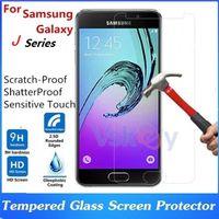 temperli cam samsung galaxy j1 toptan satış-20 adet 2.5D 9 h Temperli Cam Samsung Galaxy J1 Için ACE J2 J3 J5 J7 Başbakan Ekran Koruyucu Patlamaya dayanıklı Ekran Koruyucu Film