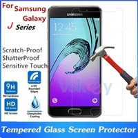 Wholesale Ace Screen - 20pcs 2.5D 9h Tempered Glass For Samsung Galaxy J1 ACE J2 J3 J5 J7 Prime Screen Protector Explosion Proof Screen Protective Film