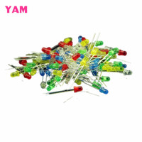 Wholesale Led 3mm Diffused - Wholesale- New 100Pcs 3mm Emitting Diode Diffused Assorted Superbright LED 5 Colors -Y121 Best Quality