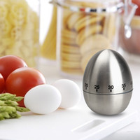 Wholesale Stainless Steel Egg Timers - Mechanical Dial Cooking Kitchen Timer Alarm 60 Minutes Stainless Steel Kitchen Cooking Tools Kitchen Egg Timer