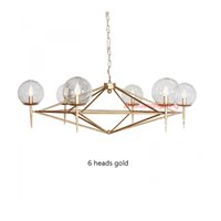 Wholesale Contemporary Glass Shade Pendant Light - modern pendant lamps Mirror Ball Glass linear suspension pendant lights for dinning Room globe glass shade hanging lighting home
