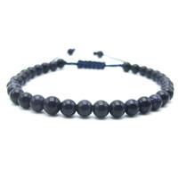 Wholesale Blue Bead Bangle Bracelets - Wholesale- Handmade Blue sandstone Beads Shambala Bracelet Lucky Bangle Gift Charm Fashion Jewelry