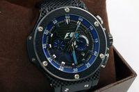 Wholesale Pink Bangs - big bang brand new! Luxury men's steel mechanical sports style F1 racing watch, black   silver style, fashion luxury